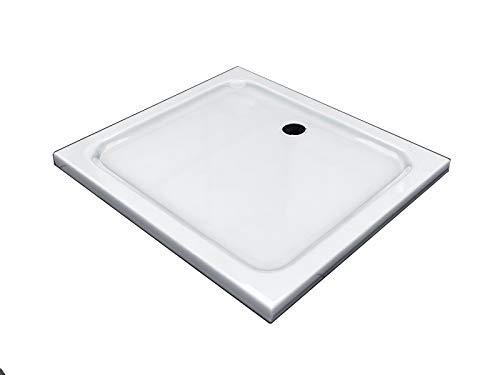 BuyLando - [Typ-DT] - 100x90cm Piatto Doccia Flat - Altezza 5cm - Bianco