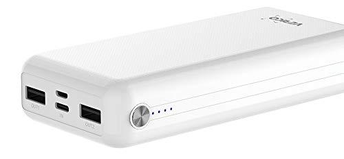 Power Guard XL Powerbank - Batería Externa (20000 mAh, 2,4 A, 2 Puertos USB, para Todos los Smartphones y Dispositivos USB, pequeño y manejable), Color Blanco