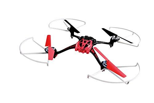 XciteRC 15013120 - Ferngesteuerter RC Quadrocopter Rocket 250 3D - 4 Kanal RTF Drohne, rot
