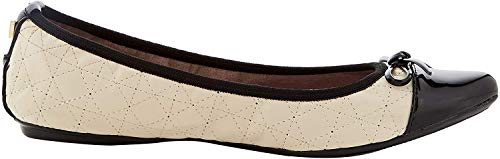 Butterfly Twists Damen Holly II Geschlossene Ballerinas, Off-White (Cream/Black), 37 EU