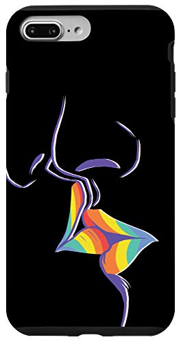 iPhone 7 Plus/8 Plus LGBT Lesbian Gay Pride LGBTQ Kiss Rainbow Gift Case