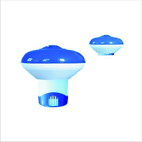 well2wellness® Chlordosierer Chlor Dosierschwimmer klein für 20g Chlortabletten mit ausziehbarem Dosierfuß (022952)