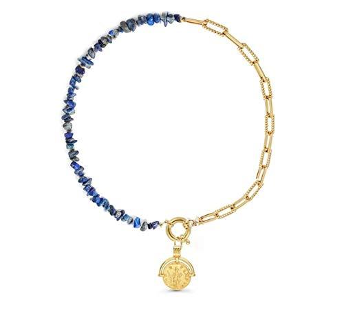 K-ONE Collar Largo de Cuentas de Piedra Natural étnica Bohemia de múltiples Capas, joyería para Mujer, Collar, Collares Largos con Colgante