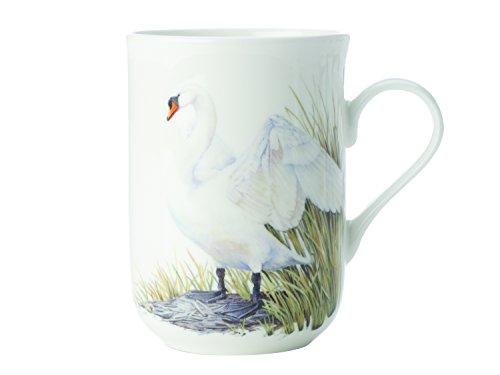Maxwell & Williams Birds of The World Schwan, Geschenkbox, Porzellan, PBW1075 Becher, weiß, 10.5 x 7.5 x 10.5 cm