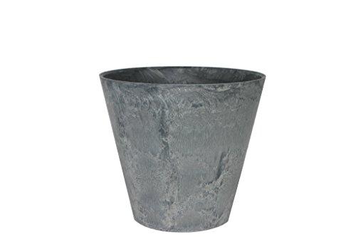 Artstone Pflanzgefäß Pflanzkübel Claire, frostbeständig und leichtgewichtig, Grau, 27x24cm