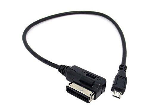 SYSTEM-S KFZ Auto Micro USB Ladekabel Adapterkabel für VW Audi Media in AMI MDI, 25 cm