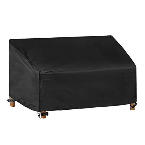 NINGWXQ Bank van de tuin Cover Sofa Cover waterdichte stof winddicht Scheurweerstand Outdoor Furniture Cover, Zwart, verschillende maten (Color : Black, Size : 93x87x83/60CM)