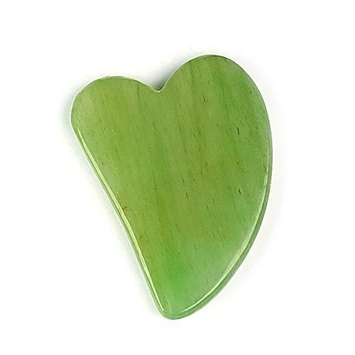 Reiki Crystal Products Green Jade Gua Sha Stone Scraping Massage Tool