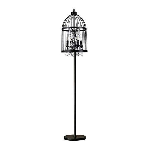Tyannan Cristalina antigua Birdcage Lámpara de la sala de estar dormitorio lámpara de cabecera del Estudio de lectura lámpara de piso
