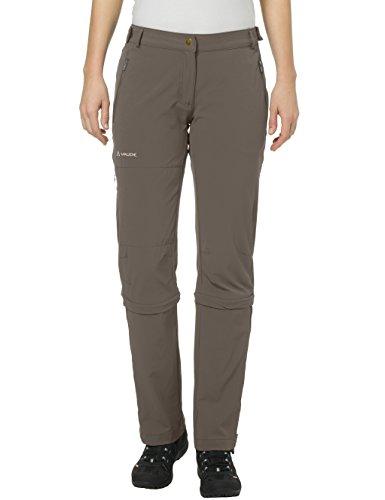 VAUDE Farley Stretch Capri T-Zip II Pantalon Femme, Coconut, FR : XL (Taille Fabricant : 44)