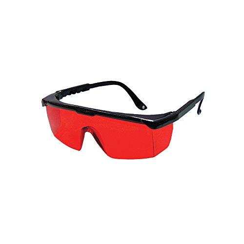 Bosch 57-GLASSES - Gafas para mejorar la vista láser con templo ajustable, lente roja, marco negro
