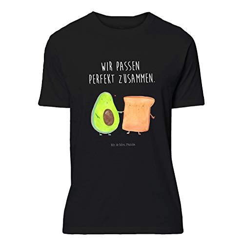 Mr. & Mrs. Panda , Größe S T-Shirt Avocado + Toast mit Spruch - Farbe Schwarz