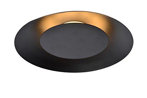 Lucide FOSKAL - plafondlamp - Ø 34,5 cm - LED - 1x12W 2700K - zwart