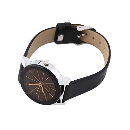 Diseño de Moda Reloj de Pulsera Hombre Mujer Amantes Pareja Movimiento de Cuarzo de lujoBlackman