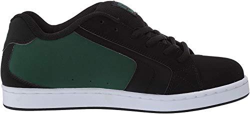 DC Men's Net Skate Shoe, Black/Black/Green, 12 D M US