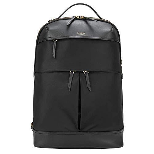 Targus Newport Backpack Sleek Professional Travel Laptop Bag, Water-Repellent Nylon, Premium Metallic Hardware, Wireless Charging Pocket, Protective Sleeve for 15-Inch Laptop, Black (TSB945BT)