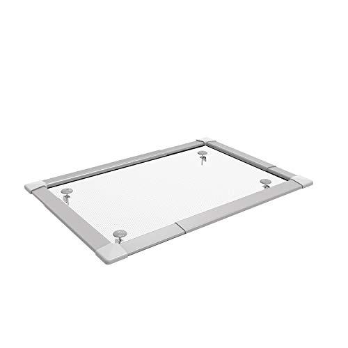Lichtschachtabdeckung TELESKOPIERBAR mit Alu-Gewebe - von 40 x 70 cm bis zu 60 x 120 cm - Kellerschacht Abdeckung Gitter Gitterrost Aluminium Gewebe