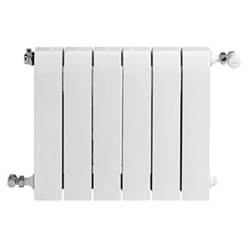 Baxi Radiador de aluminio de alta emisión térmica Batería, 6 elementos, serie Dubal 60, 8,2 x 48 x 57,1 centímetros (Referencia: 194A25601), blanco