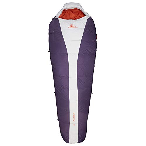 Kelty Cosmic 20 Degree Down Sleeping Bag - Ultralight Backpacking Camping Sleeping Bag with Stuff Sack, Women's Regular