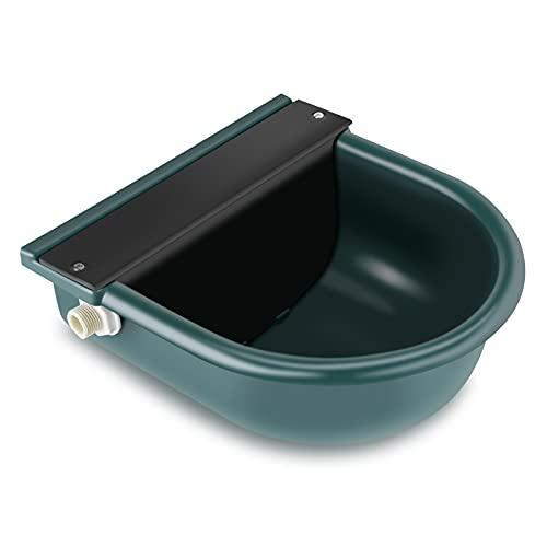 4L Bebedero Verde de Plástico, Fregadero de Válvula de Flotador Bebedor de Ganado, para Perros Pequeños Ganado y Ovejas, Granja,26.5x28 cm,Verde