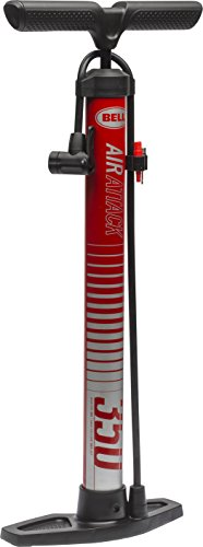 Bell Air Attack 350 High Volume Bicycle Pump Red Stripe, Air Attack 350