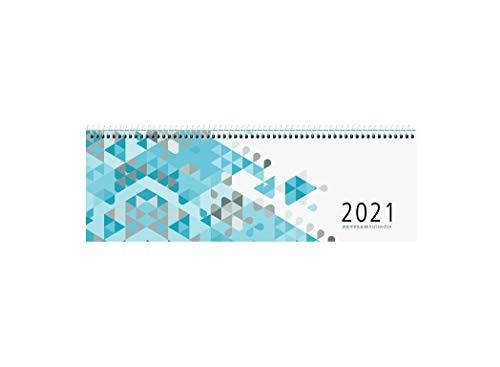 Zettler Kalender Querkalender 30x10cm 1W/2S blau