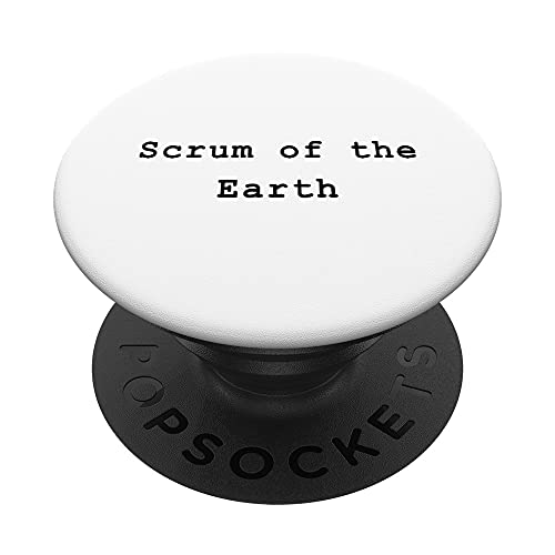 Scrum Earth Lean Agile Project Management Funny PM Coach PopSockets PopGrip Intercambiable
