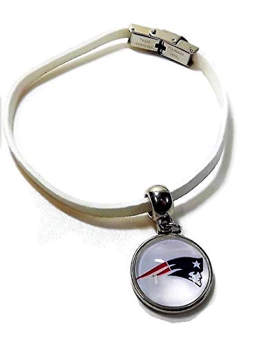 No Excuses Gear Love Patriots Team Charm Bracelet and Logo Earrings