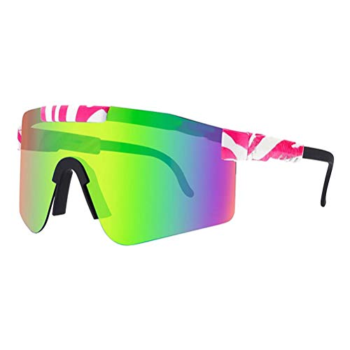 Poapo Gafas de Sol polarizadas, Gafas de Sol UV400, Gafas de Sol de Ciclismo Deportivas Unisex a Prueba de Viento para Exteriores para Hombres y Mujeres