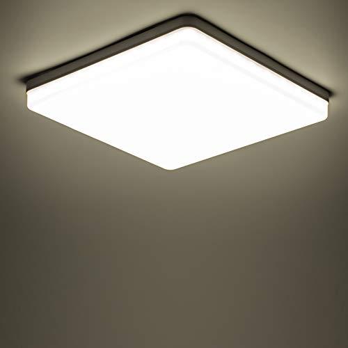 Yafido LED Plafoniera 48W Ultra Magro UFO Pannello LED Quadrata Bianco Naturale 4500K 4320LM Lampada da Soffitto per Soggiorno Camera da letto Bagno Cucina Corridoio e Balcone 30 * 30 * 4cm