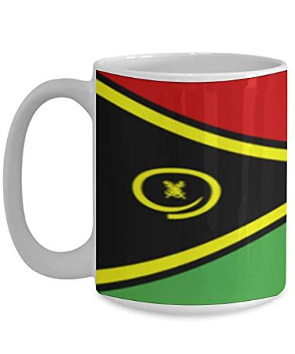 N\A Vanuatu Flagge weiße Kaffeetasse Teetasse Native Heritage