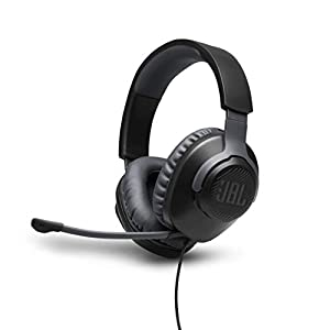 JBL Quantum 100 – Wired Over-Ear Gaming Headphones – Black