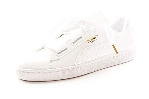 PUMA Basket Heart Patent WN'S, Zapatillas para Mujer, Blanco White White, 38 EU