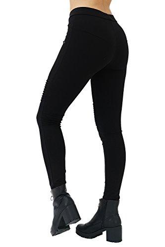 trueprodigy Casual Damen Marken Leggings mit Stretch Leggings Cool Stylisch sexy sportlich Skinny elegant anschmiegsame Hose für Frauen,...