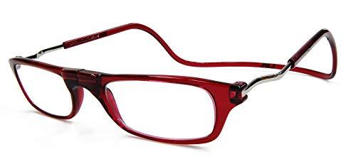 [クリックリーダー] 老眼鏡 CliC Expandable クリックLサイズ エクスパンダブル ボルドー+3.00 (クリックショップオリジナル)