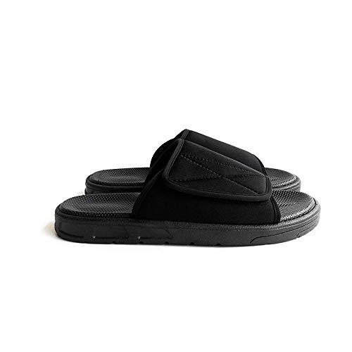 B/H Einstellbare Bequeme Diabetes Schuh,Fußschwellung verstellbare Diabetikerschuhe,Daumen Valgus Hausschuhe-schwarz_43
