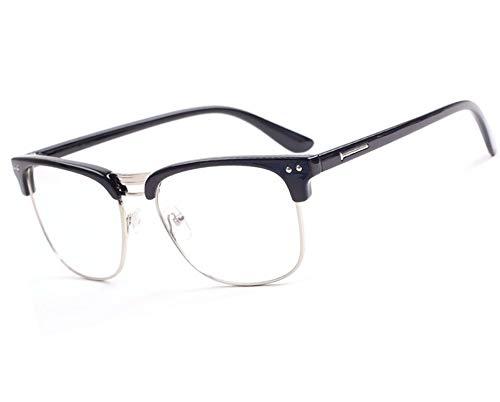 morefaz New Unisex (Damen Herren) Retro schwarz Lesebrille Brille +1.0 +1.5 +2.0 +2.5 Reading Glasses (TM) (+2.00 Retro Black)
