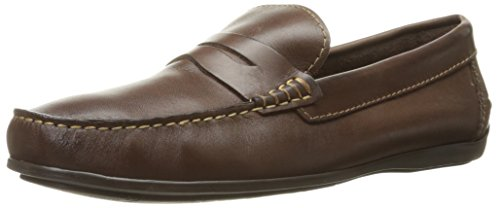 Florsheim Men's Jenson Penny Slip-On Loafer, Brown, 11 D US