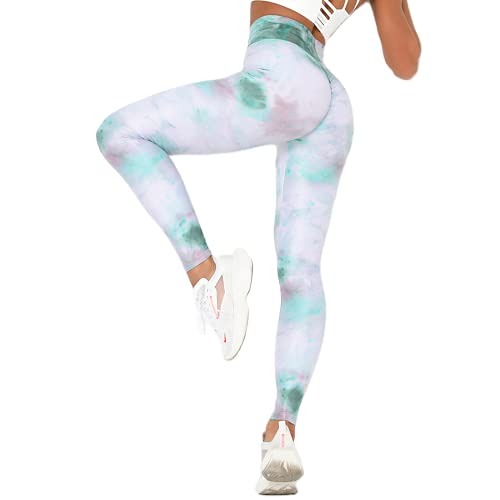 QTJY Leggings Coloridos de Gimnasio para Mujer, Pantalones de Yoga para Mujer, Pantalones Deportivos para Correr, Mallas de Yoga, Color Mezclado, Ropa para Correr CL