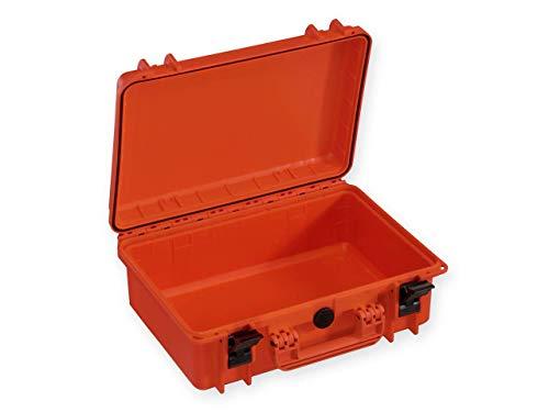 GIMA Case 430 Maleta, sin esponja interior, certificado IP67, de plástico, mediana, naranja