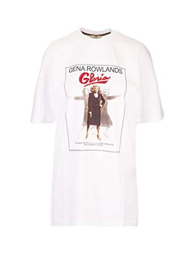 Luxury Fashion | Fendi Dames FS7242A5ZBF0ZNM Wit Katoen T-shirts | Lente-zomer 20