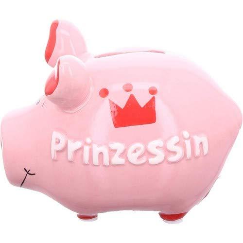 KCG Keramik Sparschwein Prinzessin ca. 12.5cm x 9cm