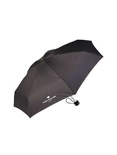 TOM TAILOR Unisex Umbrellas Regenschirm black,OneSize