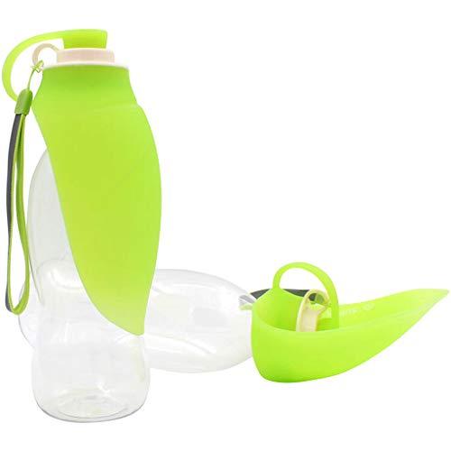 Hony waterfles, draagbaar, waterdispenser, siliconen, voor reizen, voor honden en katten, met dranken, uittrekbaar, 580 ml