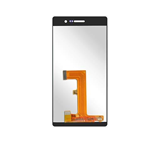 CjYeSS Pantallas LCD para teléfonos móviles 5.0 '' Pantalla con Marco/Ajuste para la Pantalla LCD de Huawei Ascend P7 LCD L00 L05 L10 Mostrar reemplazo del ensamblaje del digitalizador táctil