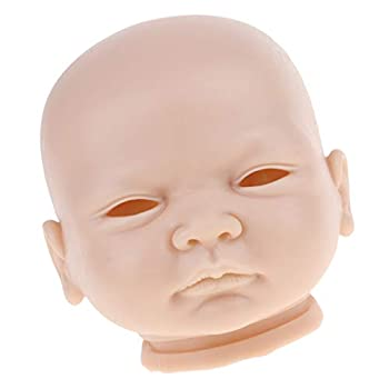Prettyia Soft Silicone Realistic Baby Doll Head Sculpt Carving Mold 20inch Reborn Blank Body Replacement Part Kit #4