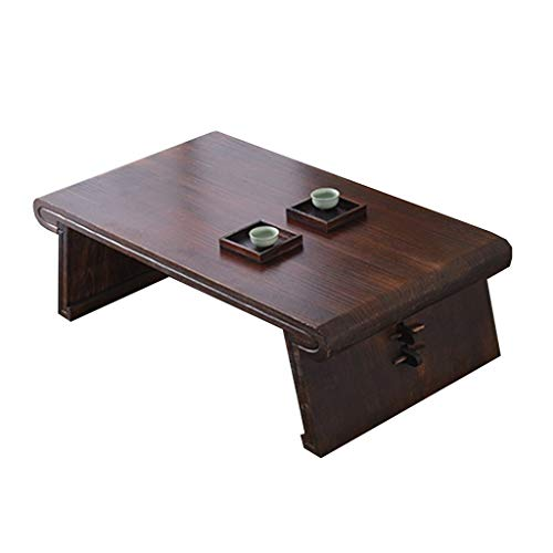 Living Room Furniture Coffee table sofa side Living room bedroom bay window small tea table Terrace tatami side table Indoor resting square low table (Color : Brown, Size : 60 * 40 * 30cm)