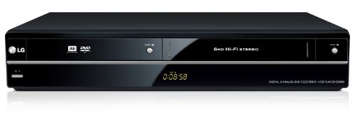 LG RCT699H - Grabador de DVD con reproductor de vídeo VHS, Negro [importado]