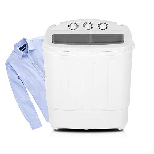 Waschmaschine Tragbare Waschvollautomat 2 in 1 Waschmaschine Doppeltrommelwaschmaschine für Singles, Studenten, Top Load 5kg 59 x 35 x 67 cm