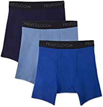 Fruit of the Loom mens Breathable Underwear Boxer Briefs, Boxer Brief - Cotton Mesh 3 Pack, X-Large US